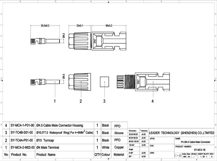Solar panel connectors